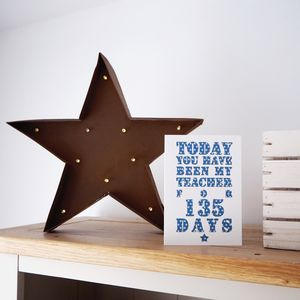 Personalised Days You've Been My Teacher Card