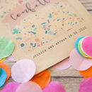 10 Personalised Colourful Confetti Print Packets