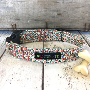 Rosie Floral Liberty Print Dog Collar
