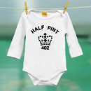 Half pint white Long sleeved