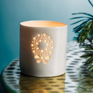 Porcelain Christmas Wreath Tea Light