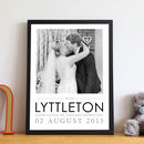 Wedding Photo And Type Print