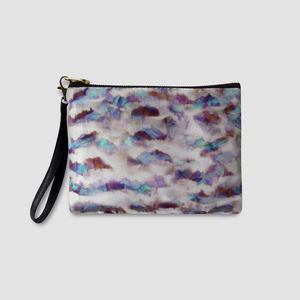 Ava Silk And Leather Wristlet Bag - new in fashion