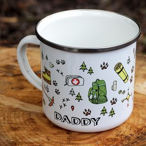 Personalised Enamel Camping Mug - gifts for him