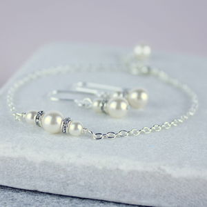 Bridesmaid Swarovski Pearl And Crystal Jewellery Set - wedding jewellery