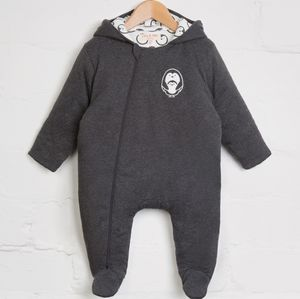 Charcoal Penguin Snuggle Suit - new in baby & child
