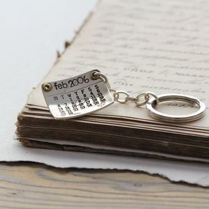 Personalised Silver Calendar Keyring - women's accessories
