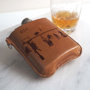 Personalised Skiing Hip Flask