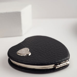 Personalised Heart Shaped Compact Mirror - compact mirrors