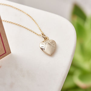Heart Charm Necklace With Card
