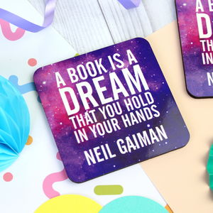 A Book Is A Dream Quote Coaster - tableware