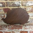 Rusted Metal Hedgehog Silhouette Garden Sign