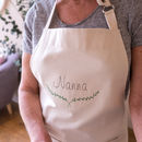 Personalised Embroidered Name Cotton Apron