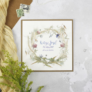 'Wildflower' Save The Date - new in wedding styling