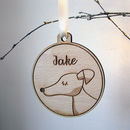 Dog Christmas Decoration Wooden Personalised