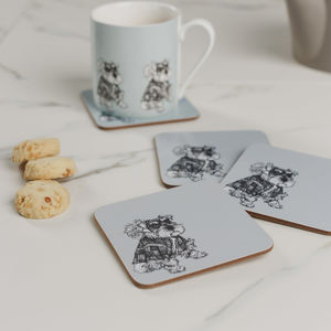 Meet Hamish Set Of Four Coasters - whatsnew