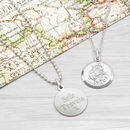 Sterling Silver St Christopher Personalised Necklace