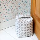 Roundel Grey And White Fabric Doorstop