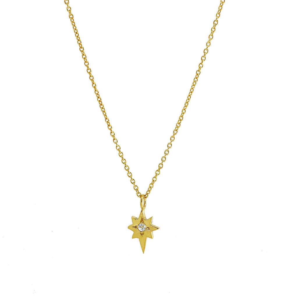 gold necklace width p north star pendant v jewelryaffairs yellow