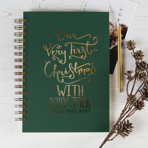 Personalised Our First Christmas Memory Book