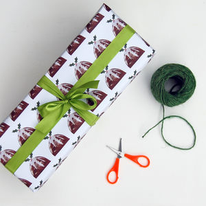 Christmas Pudding Wrapping Paper