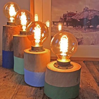 Driftwood Stumpy Lamps