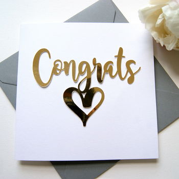 Congratulations Card Luxe Gold