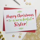 Christmas Card For Wonderful Sister