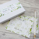 Botanical Wedding Advice Cards