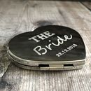 Personalised Double Sided Silver Heart Compact Mirror