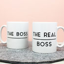 The Boss / Real Boss Mug Set