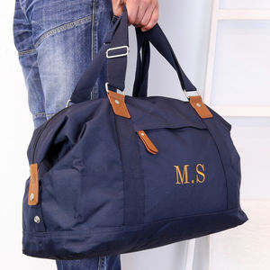 Personalised Vintage Holdall Bag - frequent traveller