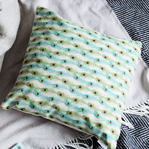 Sophisticated Peacock Feather Cushion - cushions