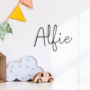 Baby Name Sign Childrens Room Sign Wire Wall Words