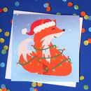 Cute Christmas Fox Greeting Card