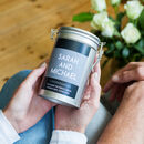 Personalised Couples Coffee Gift In Tin