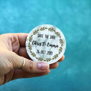 Marble Themed Wedding Save The Date Magnets