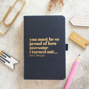 Personalised 'I Am Awesome' Notebook