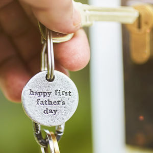 'Happy First Father's Day' Keyring - keyrings