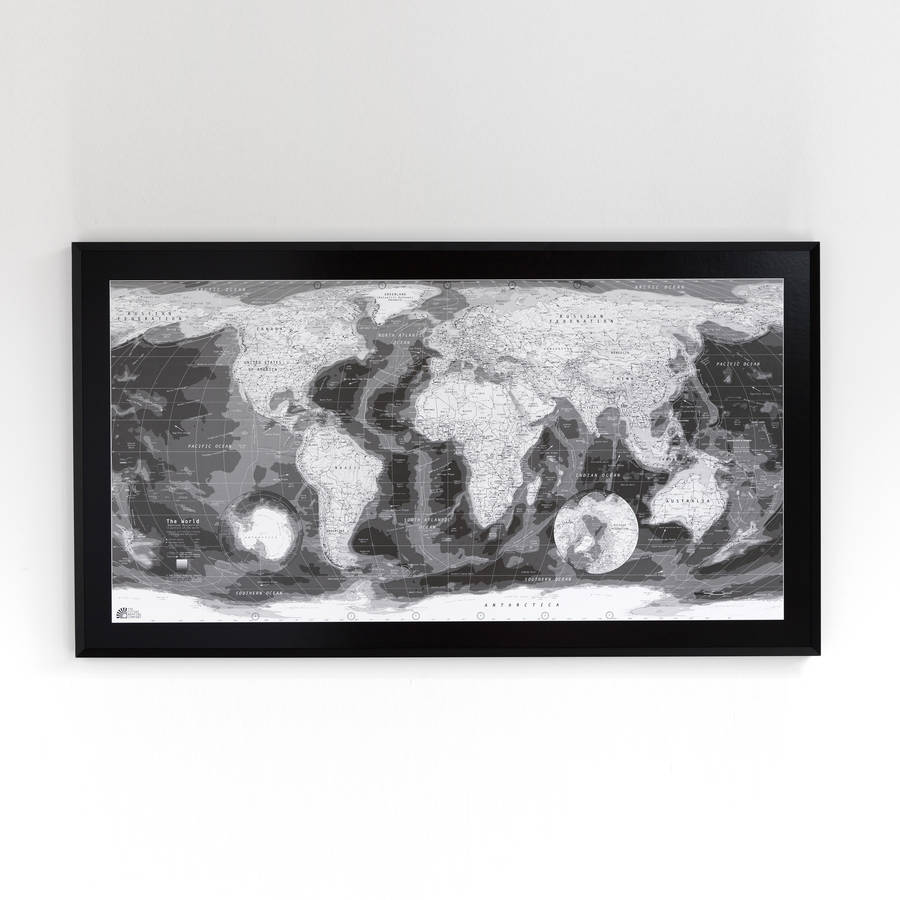 Black and white world map black and white world map gumiabroncs Choice Image