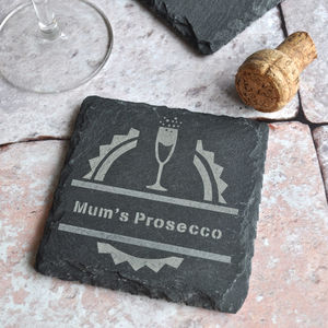 Personalised Prosecco Slate Coaster - new in home
