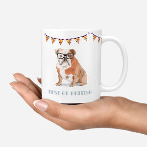 Personalised Bulldog Mug