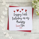 Personalised Happy 1st Birthday As My Mummy Card