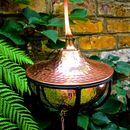 Copper Bowl Oil Burning Garden Torch