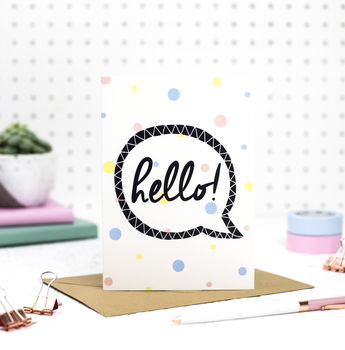 Just Because 'Hello' Card