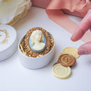 Lizzy Chocolate Cameo Brooch