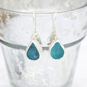 Apatite Gemstone Handmade Ladies Earrings