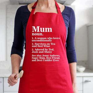 Personalised Mum Dictionary Apron - what's new