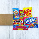 Personalised Kids Retro Sweets Letterbox Gift Box