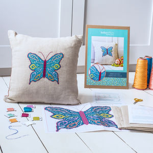 Marbled Butterfly Cross Stitch Cushion Kit - what's new